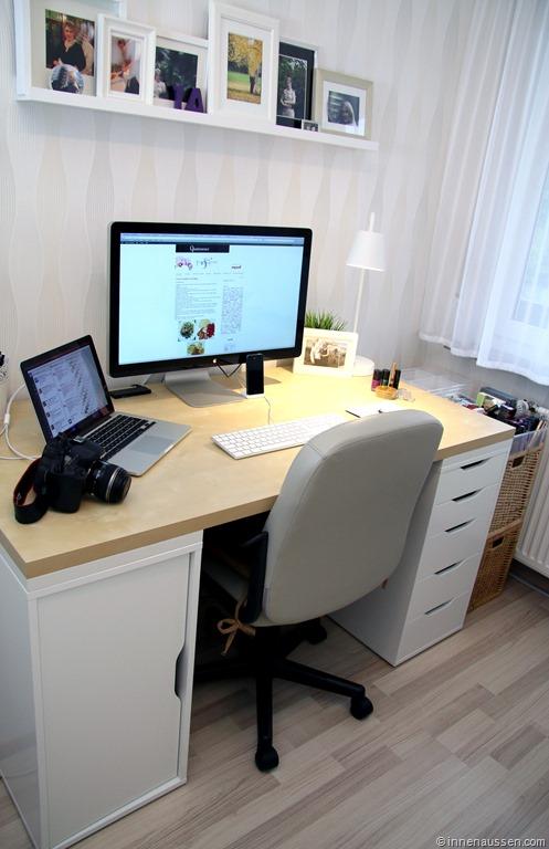 Schreibtischplatte ikea  Leserwunsch: mein Arbeitsplatz - InnenAussen