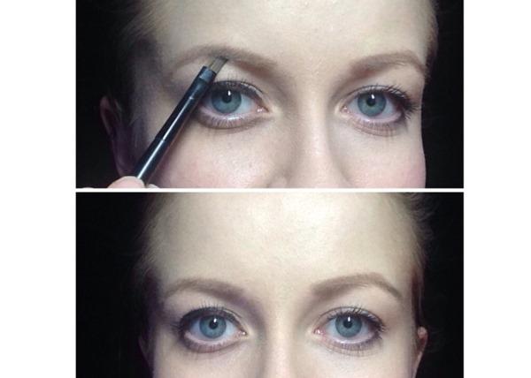 gerade Augenbrauen