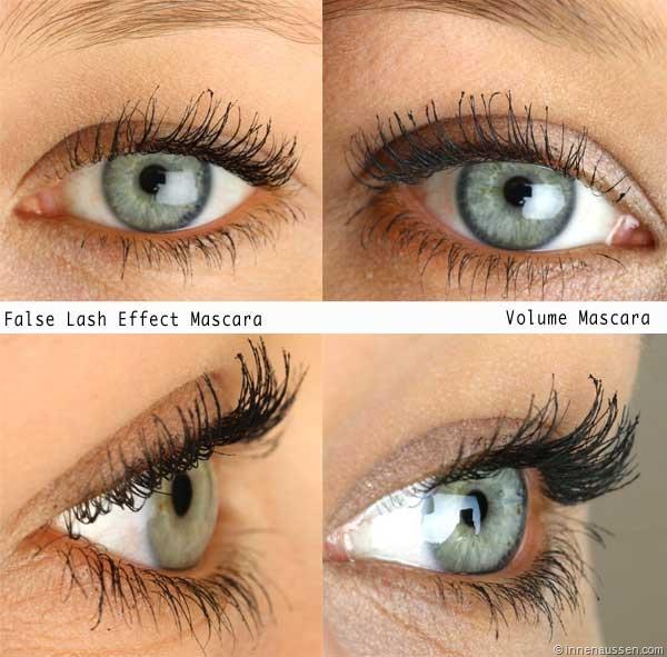 Vergleich Essence Lash Princess Mascara–False Lash Effect