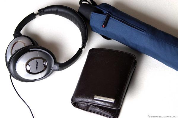 Inhalt-Handtasche-Innen-Aussen