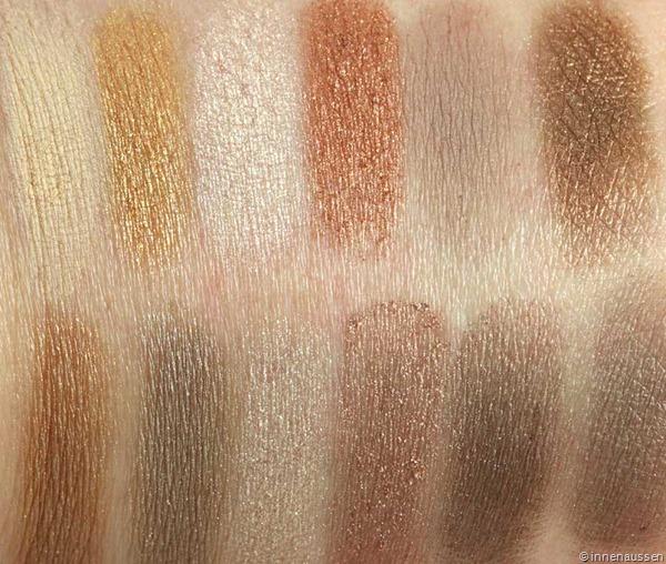 Nude-Lidschatten-Palette-Douglas-Swatches