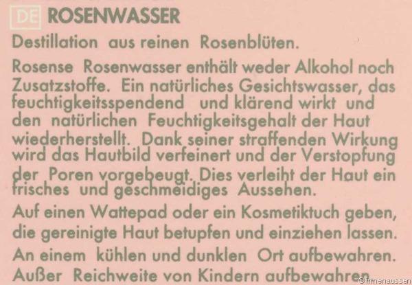 Rosense-Rosenwasser-Informationen
