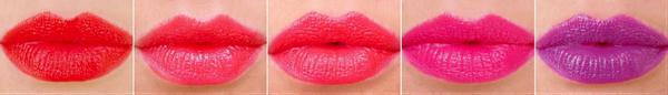 Übersicht Lippenstifte