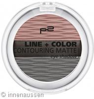 p2 Line Color Contouring Matte Eyeshadow 010 InnenAussen