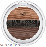 p2 Line Color Contouring Matte Eyeshadow 020 InnenAussen