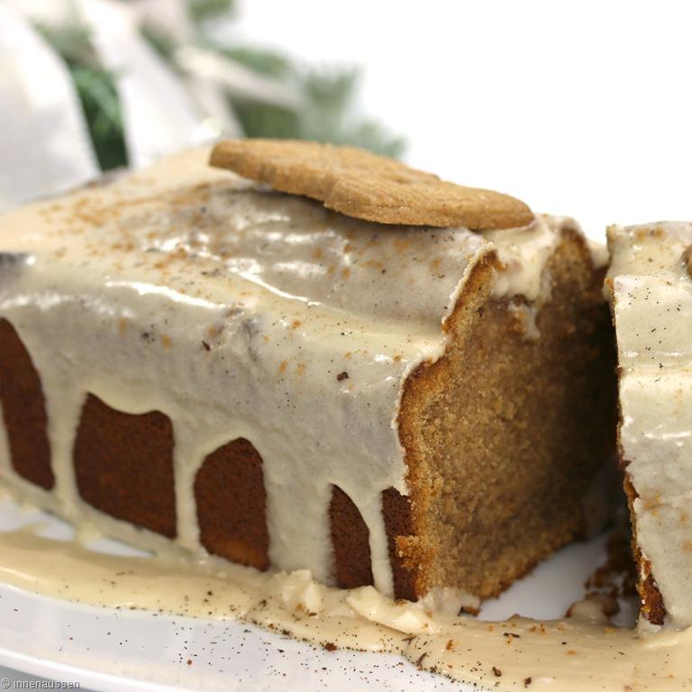 Spekulatius Kuchen Mit Ahorn Sirup Zimt Glasur Innenaussen
