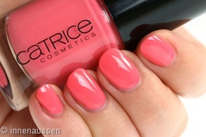 Catrice 110 Orange County Swatch Innen Aussen