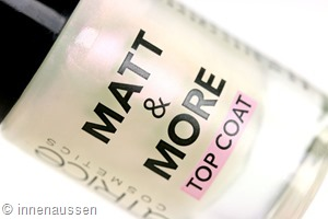 Catrice Matt and More Top Coat Innen Aussen