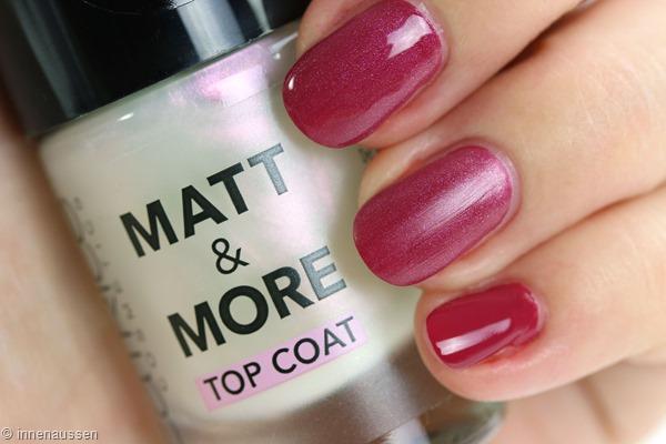 Catrice Matt and More Top Coat Swatch Innen Aussen