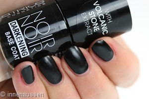 Catrice Noir Darkening Base Coat Swatch Innen Aussen