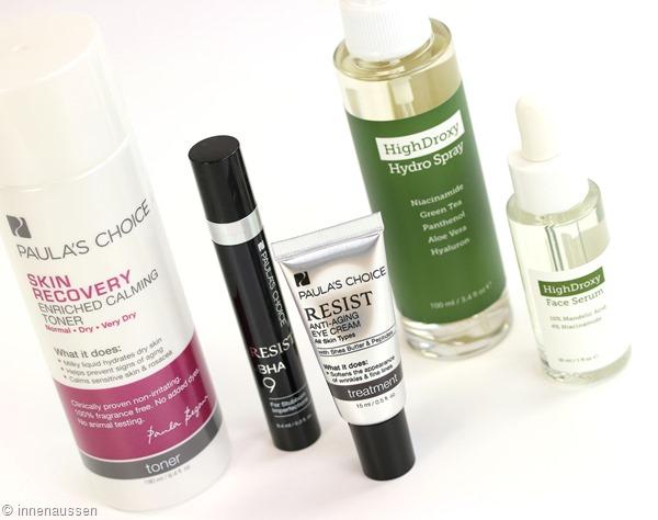 Einkauf Hautpflege Innen Aussen