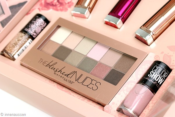 Maybelline The blushed Nudes Kollektion Innen Aussen