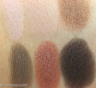 Maybelline The blushed Nudes Lidschatten Swatches Innen Aussen