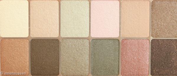 Maybelline The blushed Nudes Lidschattenpalette Farben Innen Aussen
