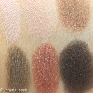 Maybelline The blushed Nudes Lidschattenpalette Swatches Innen Aussen 1