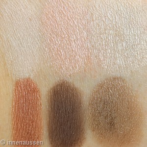 Maybelline The blushed Nudes Lidschattenpalette Swatches Innen Aussen