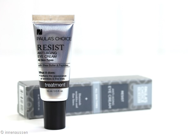Review Paulas Choice Resist Anti Aging Eye Cream Innen Aussen