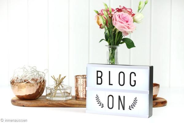 Behind the scenes Blogging Innen Aussen