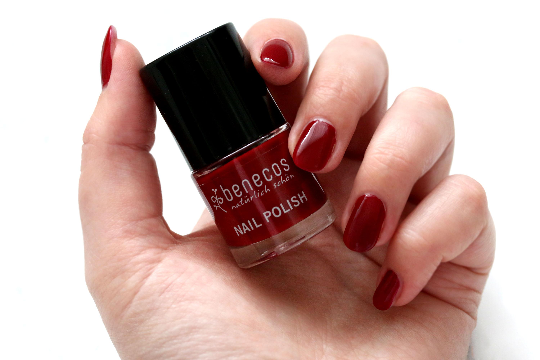 Benecos Nagellack Cherry Red Innen Aussen
