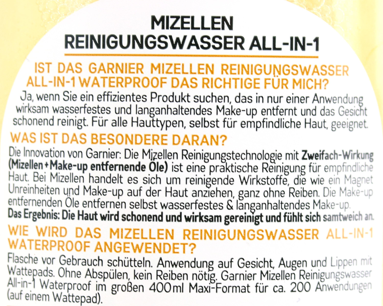 Garnier Mizellenwasser Anwendung