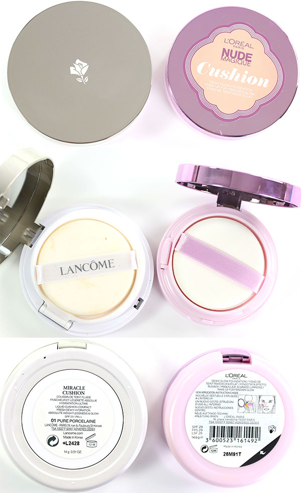 Vergleich Lancome Loreal Cushion Foundation