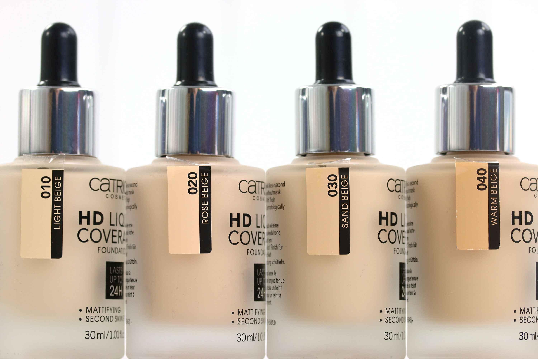 Catrice HD Liquid Coverage Foundation Farben InnenAussen