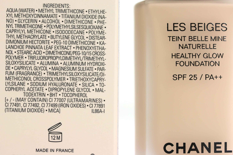 Chanel Les Beiges Healthy Glow Foundation Inhaltsstoffe