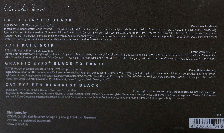 Zoeva Black Box Inhaltsstoffe