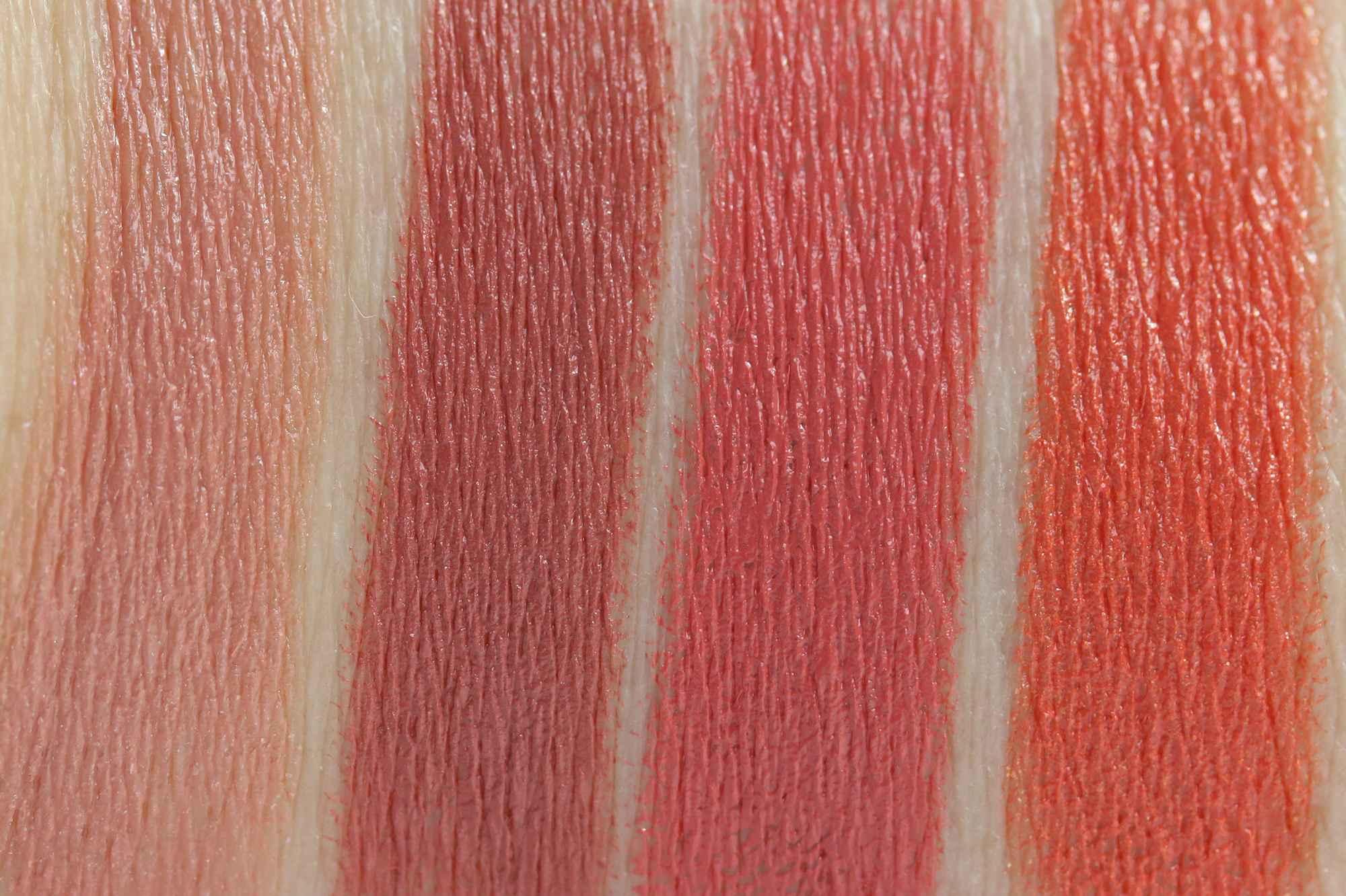 LIPaffair Color & Care Lippenstift Swatches InnenAussen