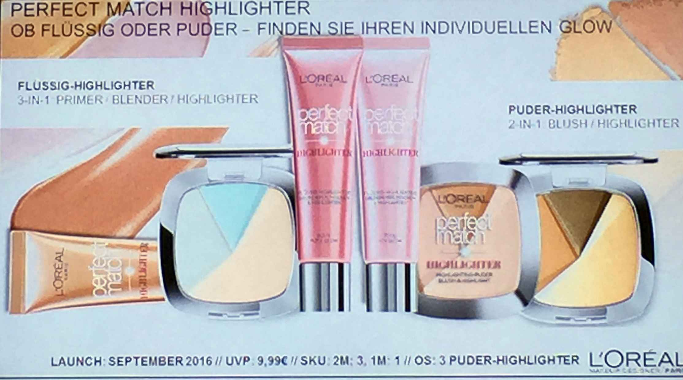 Loreal Perfect Match Highlighter Sortiment