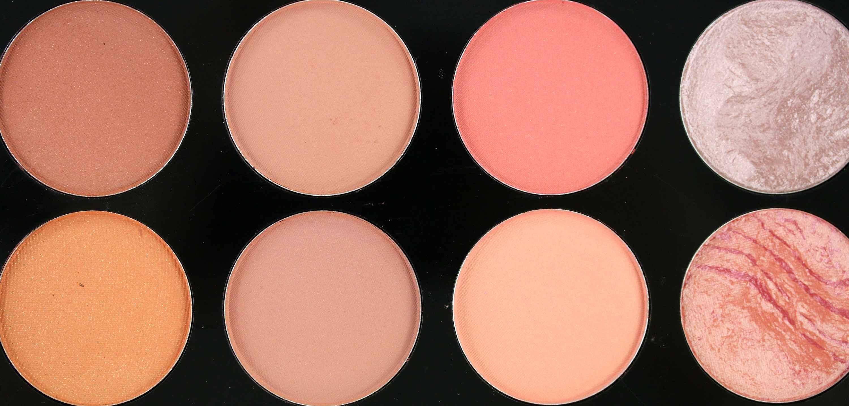 MakeUp Revolution Ultra Blush Palette Hot Spice Farben InnenAussen