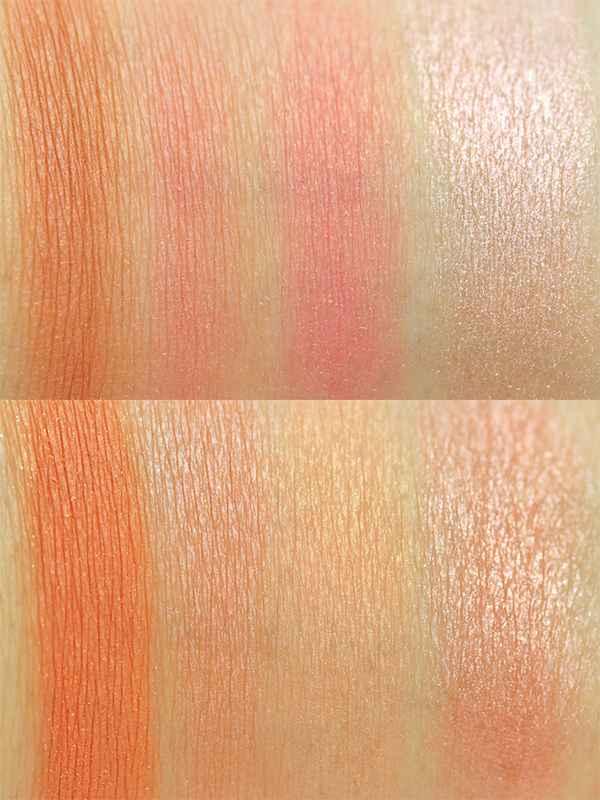 MakeUp Revolution Ultra Blush Palette Hot Spice Swatches InnenAussen