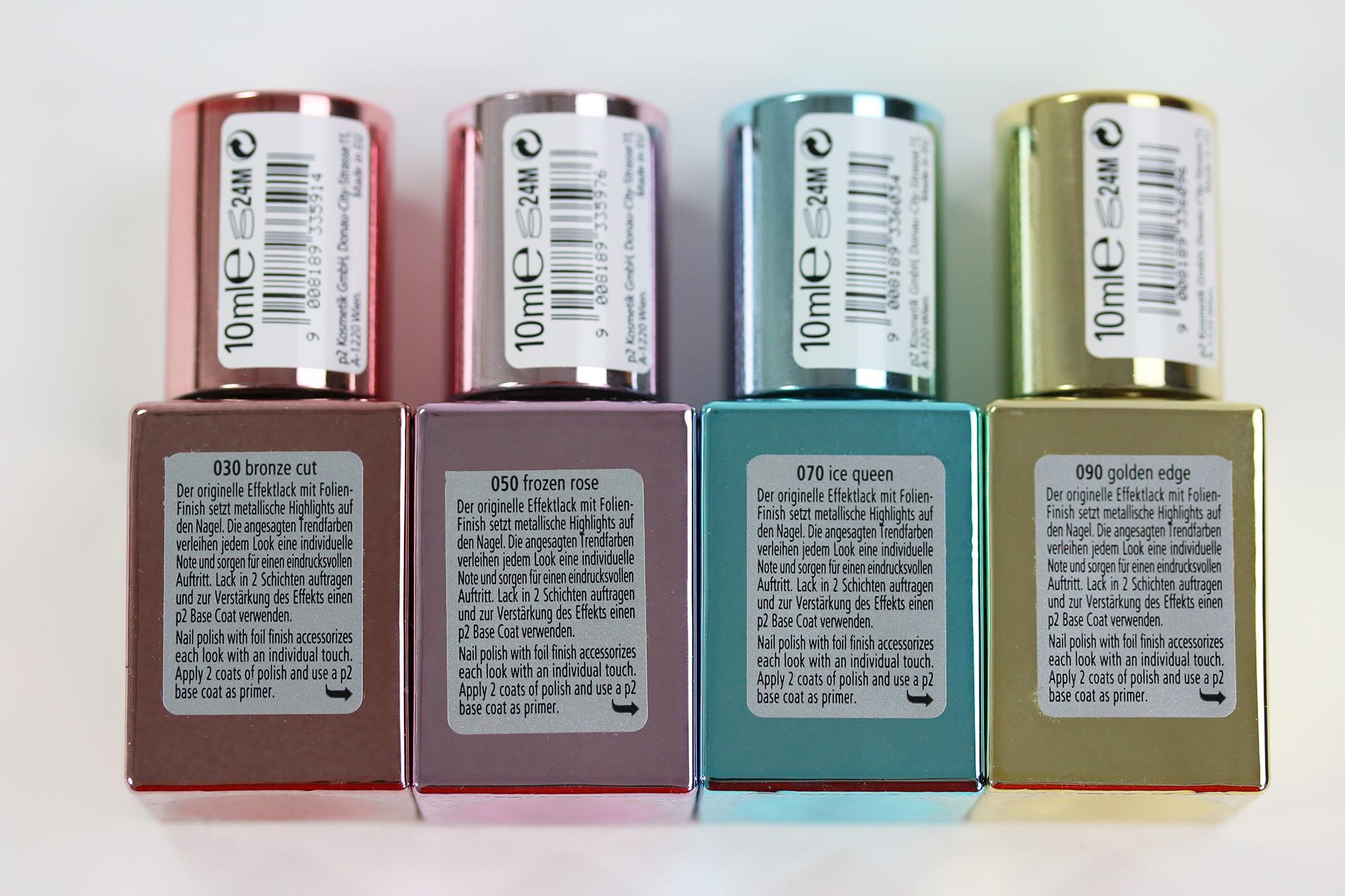 p2 Techno Chrome Nagellack Farben