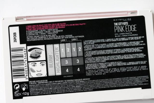 Maybelline Pink Edge Lidschattenpalette