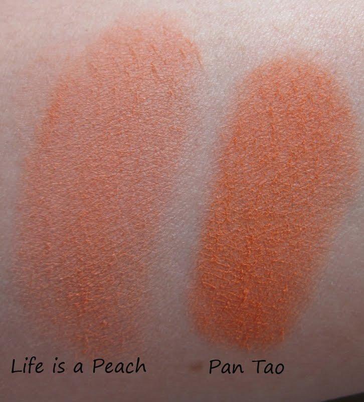 """Sleek """"Life's a Peach"""" vs. """"Pan Tao"""" (vs. MAC Melba & MNY ..."""